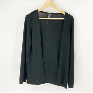 89th & Madison Black Light Eyelet Cardigan Sweater
